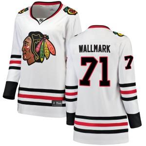 Women's Chicago Blackhawks Lucas Wallmark Fanatics Branded Breakaway Away Jersey - White