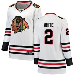 Women's Chicago Blackhawks Bill White Fanatics Branded Breakaway Away Jersey - White