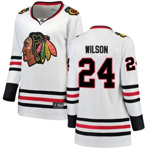 Women's Chicago Blackhawks Doug Wilson Fanatics Branded Breakaway Away Jersey - White