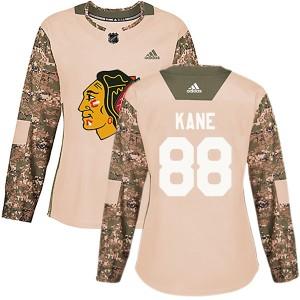 Women's Chicago Blackhawks Patrick Kane Adidas Authentic Veterans Day Practice Jersey - Camo