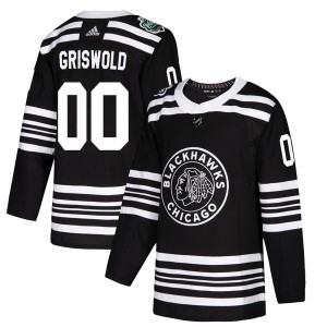 Youth Chicago Blackhawks Clark Griswold Adidas Authentic 2019 Winter Classic Jersey - Black