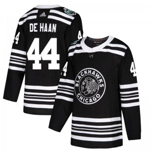Youth Chicago Blackhawks Calvin de Haan Adidas Authentic 2019 Winter Classic Jersey - Black
