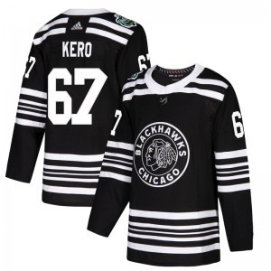 Youth Chicago Blackhawks Tanner Kero Adidas Authentic 2019 Winter Classic Jersey - Black