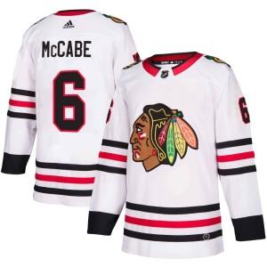 Men's Chicago Blackhawks Jake McCabe Adidas Authentic Away Jersey - White
