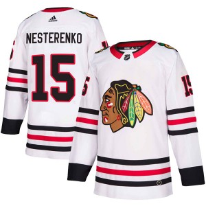 Men's Chicago Blackhawks Eric Nesterenko Adidas Authentic Away Jersey - White