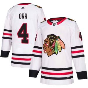 Men's Chicago Blackhawks Bobby Orr Adidas Authentic Away Jersey - White