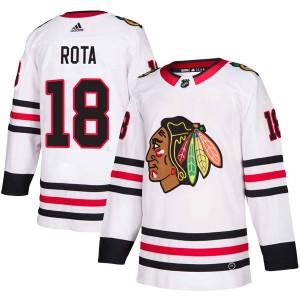 Men's Chicago Blackhawks Darcy Rota Adidas Authentic Away Jersey - White