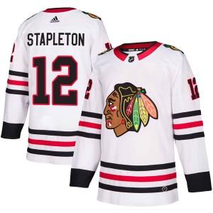 Men's Chicago Blackhawks Pat Stapleton Adidas Authentic Away Jersey - White