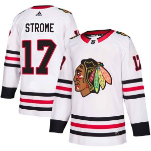 Men's Chicago Blackhawks Dylan Strome Adidas Authentic Away Jersey - White