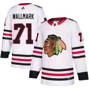 Men's Chicago Blackhawks Lucas Wallmark Adidas Authentic Away Jersey - White
