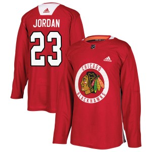 Youth Chicago Blackhawks Michael Jordan Adidas Authentic Home Practice Jersey - Red