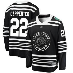 Youth Chicago Blackhawks Ryan Carpenter Fanatics Branded 2019 Winter Classic Breakaway Jersey - Black