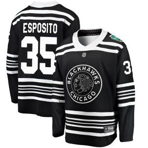 Youth Chicago Blackhawks Tony Esposito Fanatics Branded 2019 Winter Classic Breakaway Jersey - Black