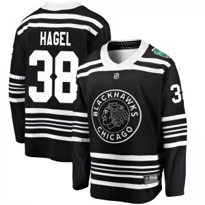 Youth Chicago Blackhawks Brandon Hagel Fanatics Branded 2019 Winter Classic Breakaway Jersey - Black