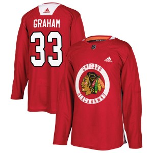Men's Chicago Blackhawks Dirk Graham Adidas Authentic Home Practice Jersey - Red