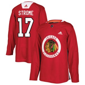Men's Chicago Blackhawks Dylan Strome Adidas Authentic Home Practice Jersey - Red