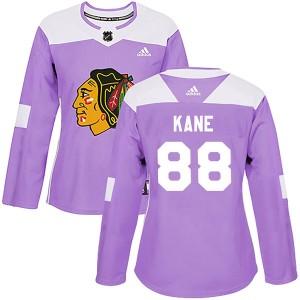 Women's Chicago Blackhawks Patrick Kane Adidas Authentic Fights Cancer Practice Jersey - Purple