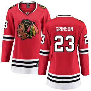 Women's Chicago Blackhawks Stu Grimson Fanatics Branded Breakaway Home Jersey - Red
