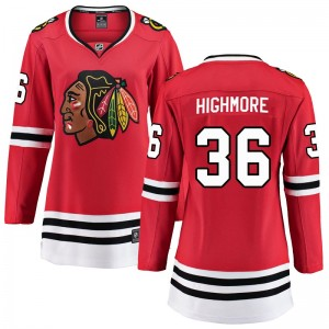Women's Chicago Blackhawks Matthew Highmore Fanatics Branded Breakaway Home Jersey - Red