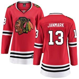 Women's Chicago Blackhawks Mattias Janmark Fanatics Branded Breakaway Home Jersey - Red
