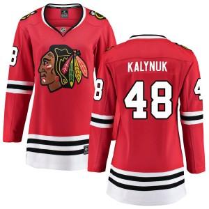 Women's Chicago Blackhawks Wyatt Kalynuk Fanatics Branded Breakaway Home Jersey - Red