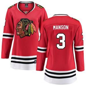 Women's Chicago Blackhawks Dave Manson Fanatics Branded Breakaway Home Jersey - Red