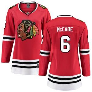 Women's Chicago Blackhawks Jake McCabe Fanatics Branded Breakaway Home Jersey - Red