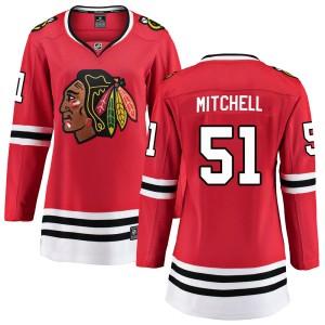 Women's Chicago Blackhawks Ian Mitchell Fanatics Branded Breakaway Home Jersey - Red