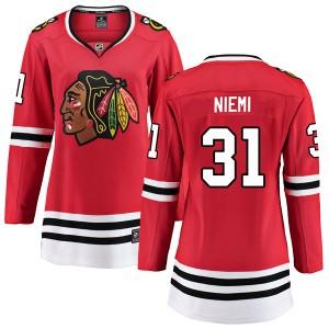 Women's Chicago Blackhawks Antti Niemi Fanatics Branded Breakaway Home Jersey - Red
