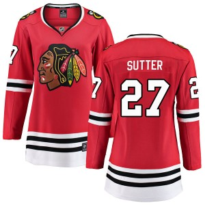 Women's Chicago Blackhawks Darryl Sutter Fanatics Branded Breakaway Home Jersey - Red