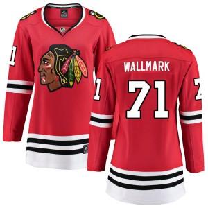 Women's Chicago Blackhawks Lucas Wallmark Fanatics Branded Breakaway Home Jersey - Red
