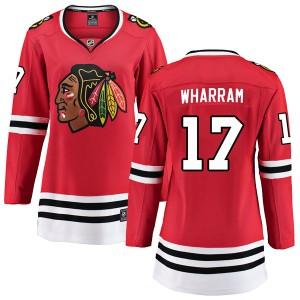 Women's Chicago Blackhawks Kenny Wharram Fanatics Branded Breakaway Home Jersey - Red
