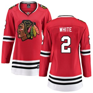 Women's Chicago Blackhawks Bill White Fanatics Branded Breakaway Red Home Jersey - White