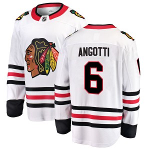 Youth Chicago Blackhawks Lou Angotti Fanatics Branded Breakaway Away Jersey - White