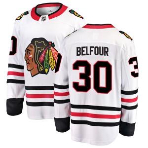 Youth Chicago Blackhawks ED Belfour Fanatics Branded Breakaway Away Jersey - White