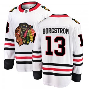 Youth Chicago Blackhawks Henrik Borgstrom Fanatics Branded Breakaway Away Jersey - White