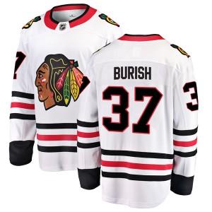 Youth Chicago Blackhawks Adam Burish Fanatics Branded Breakaway Away Jersey - White