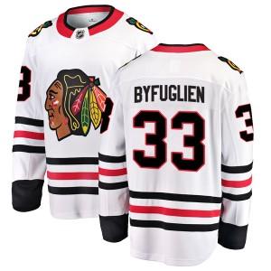 Youth Chicago Blackhawks Dustin Byfuglien Fanatics Branded Breakaway Away Jersey - White