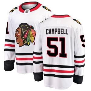 Youth Chicago Blackhawks Brian Campbell Fanatics Branded Breakaway Away Jersey - White