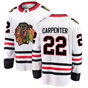 Youth Chicago Blackhawks Ryan Carpenter Fanatics Branded Breakaway Away Jersey - White