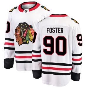 Youth Chicago Blackhawks Scott Foster Fanatics Branded Breakaway Away Jersey - White
