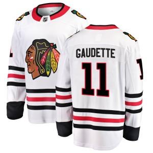 Youth Chicago Blackhawks Adam Gaudette Fanatics Branded Breakaway Away Jersey - White