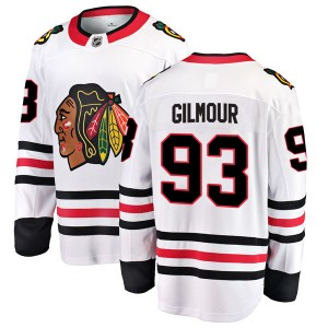 Youth Chicago Blackhawks Doug Gilmour Fanatics Branded Breakaway Away Jersey - White