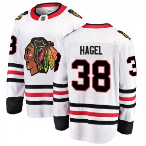 Youth Chicago Blackhawks Brandon Hagel Fanatics Branded Breakaway Away Jersey - White