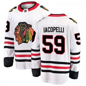 Youth Chicago Blackhawks Matt Iacopelli Fanatics Branded Breakaway Away Jersey - White