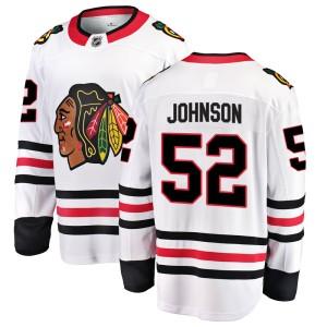 Youth Chicago Blackhawks Reese Johnson Fanatics Branded Breakaway Away Jersey - White