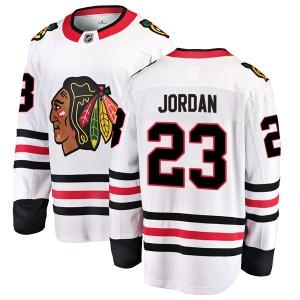 Youth Chicago Blackhawks Michael Jordan Fanatics Branded Breakaway Away Jersey - White