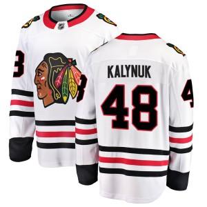 Youth Chicago Blackhawks Wyatt Kalynuk Fanatics Branded Breakaway Away Jersey - White