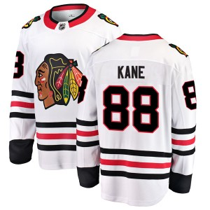 Youth Chicago Blackhawks Patrick Kane Fanatics Branded Breakaway Away Jersey - White