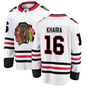 Youth Chicago Blackhawks Jujhar Khaira Fanatics Branded Breakaway Away Jersey - White